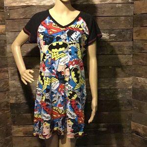 DC Comics Winder Woman Batman Superman Nightie